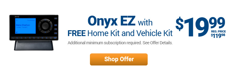Onyx EZ with Free Home Kit and Vehicle Kit for $19.99